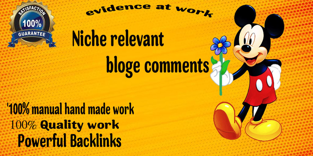 Get 40 High Quality Niche Relevant Blog comments Backlinks