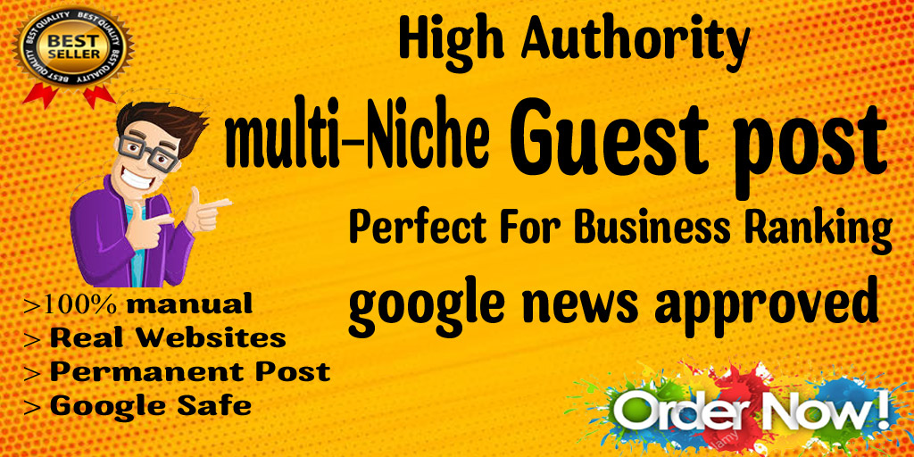 I will publish a guest post on a real traffic multi niche website
