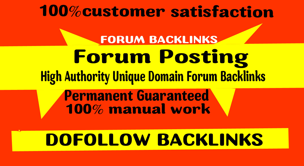 Provide 70 doFollow Forum posting backlinks on High DA Site