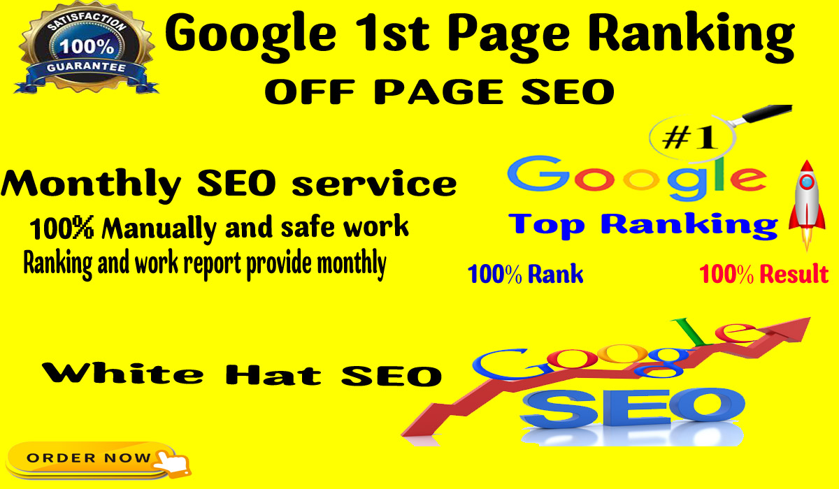 I will provide complete monthly SEO service for google top ranking