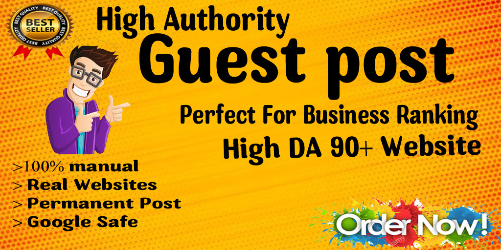 Write And Publish A Guest Post DA90+ websites