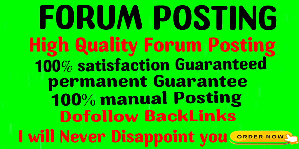 Provide 50 doFollow Forum posting backlinks on High DA Site