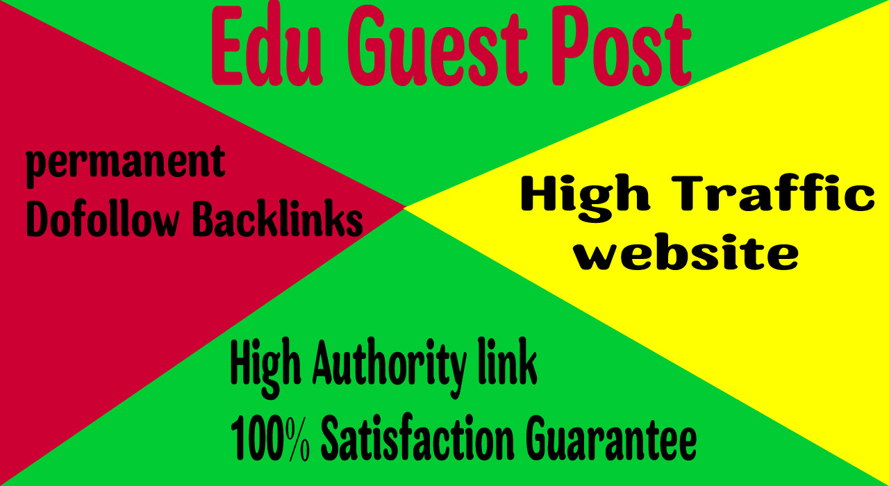 I will publish guest post on edu website with da 80plus
