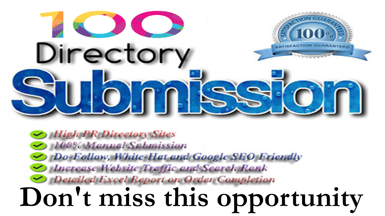 Provide 100 Dofollow Directory Submission Backlinks