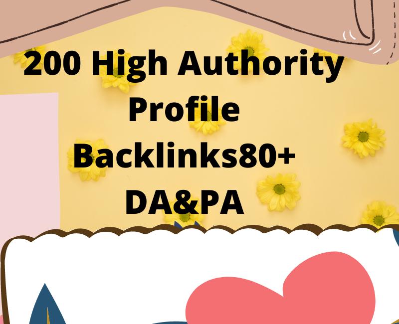 200 HQ profile backlinks,  manual link building