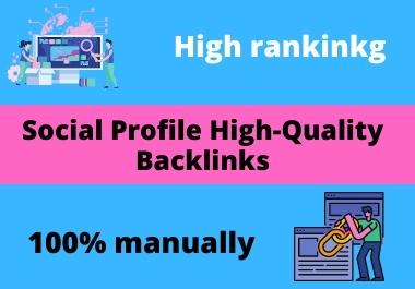 I will create high authority social media profile backlinks