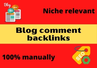 I will do niche relevant manual blog comment backlinks