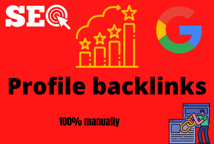 Build high quality SEO profile backlinks by manual link building