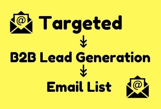 I will do 1500 b2b lead generation and build targeted email list