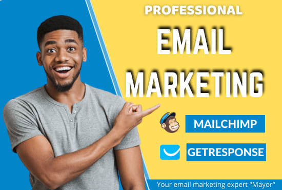 I will do mailchimp landing page,  getresponse landing page,  email marketing mailerlite