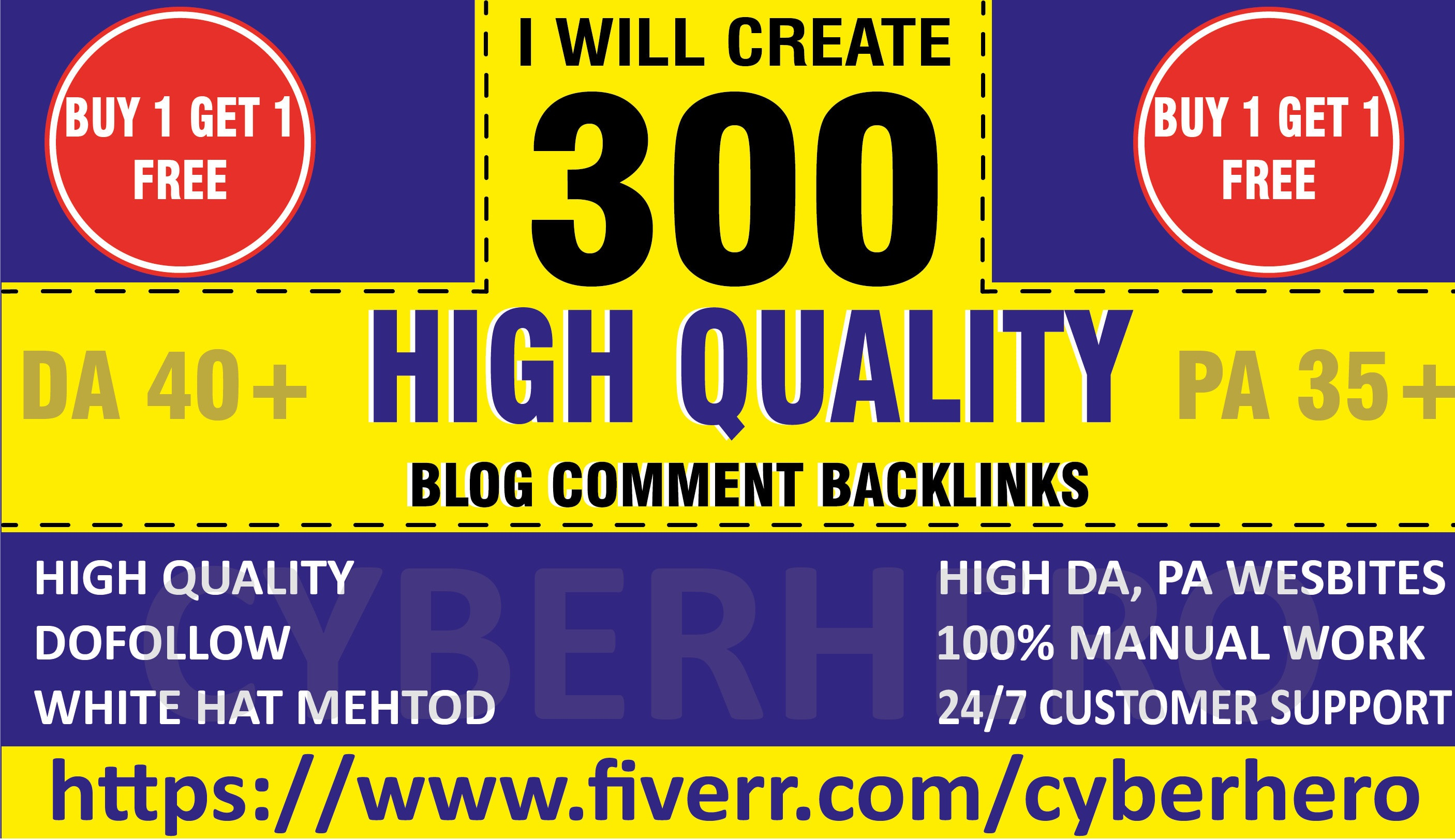 I will create 300 dofollow comment quality backlinks