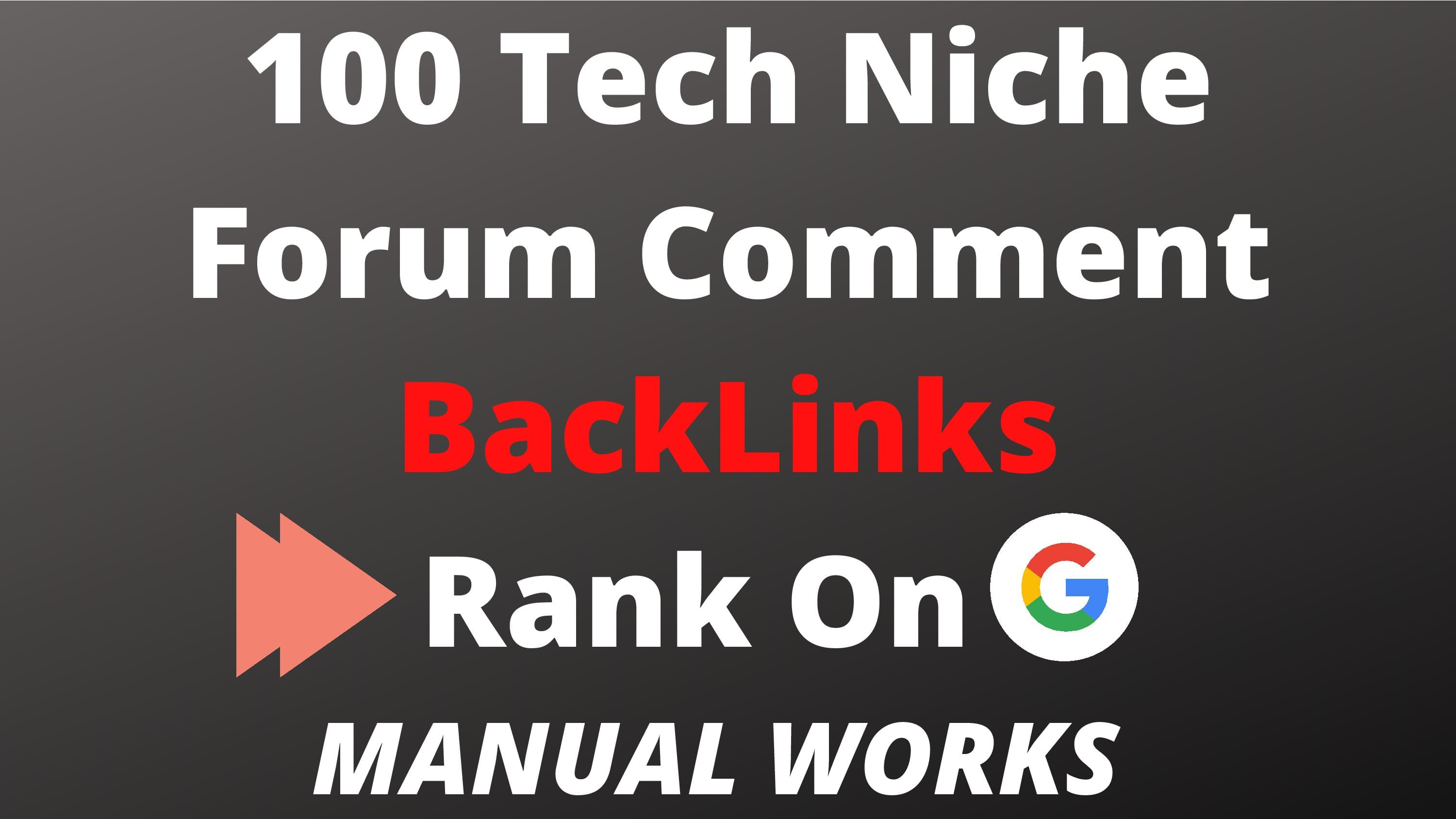 I will build 100 tech related comment backlinks