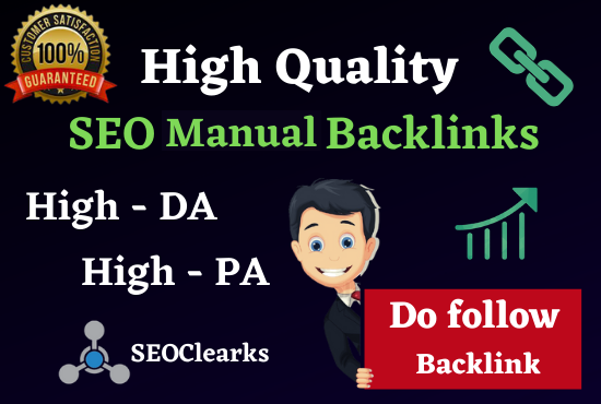 Rank On Google 1st Page 100 SEO Manual High Authority Backlinks,  Web 2.0 & Profile Bookmarking