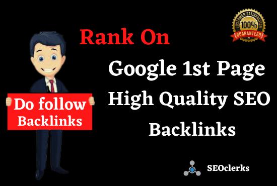 Rank On Google 1st page 50 SEO Manual High Authority Backlinks,  Web 2.0 & Profile Bookmark