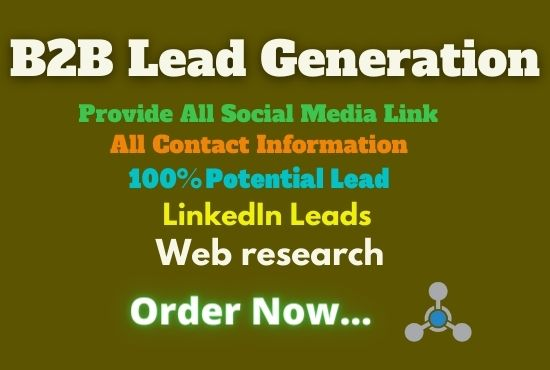 I will provide potential B2B Lead Generation and Email Listing