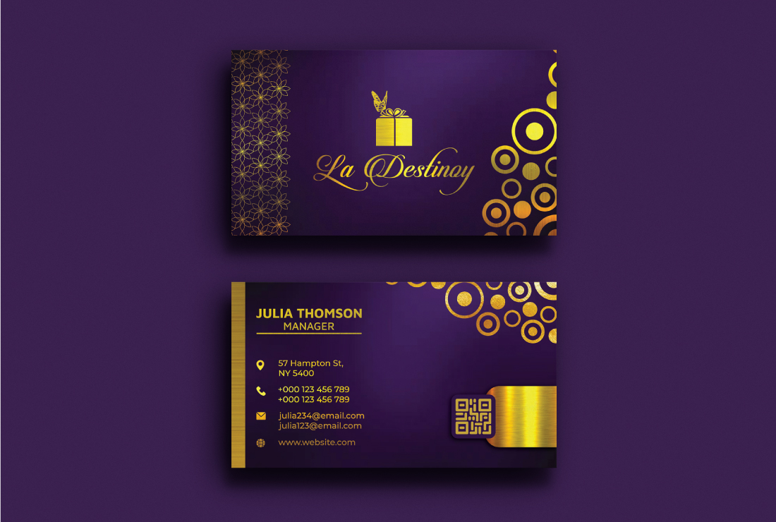 I will design luxury,  professional business card