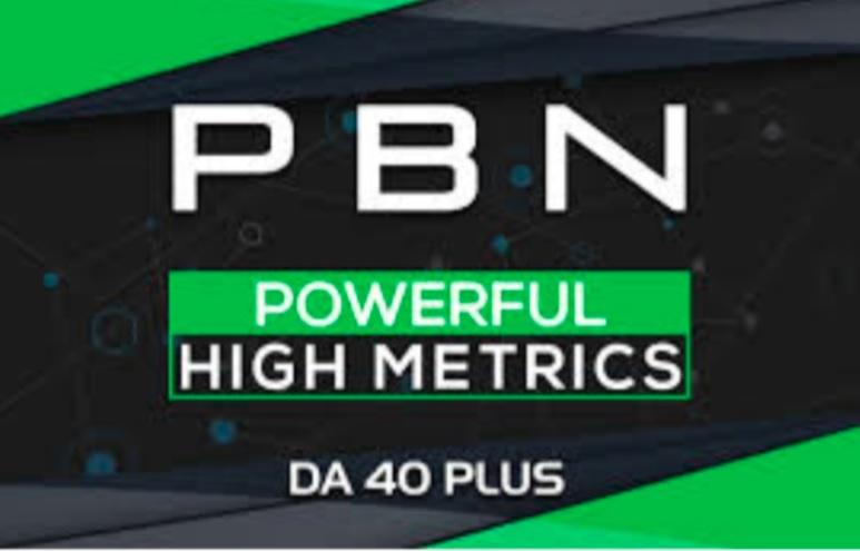 Build 5 DA 40+ Permanent Dofollow Homepage PBN Backlinks