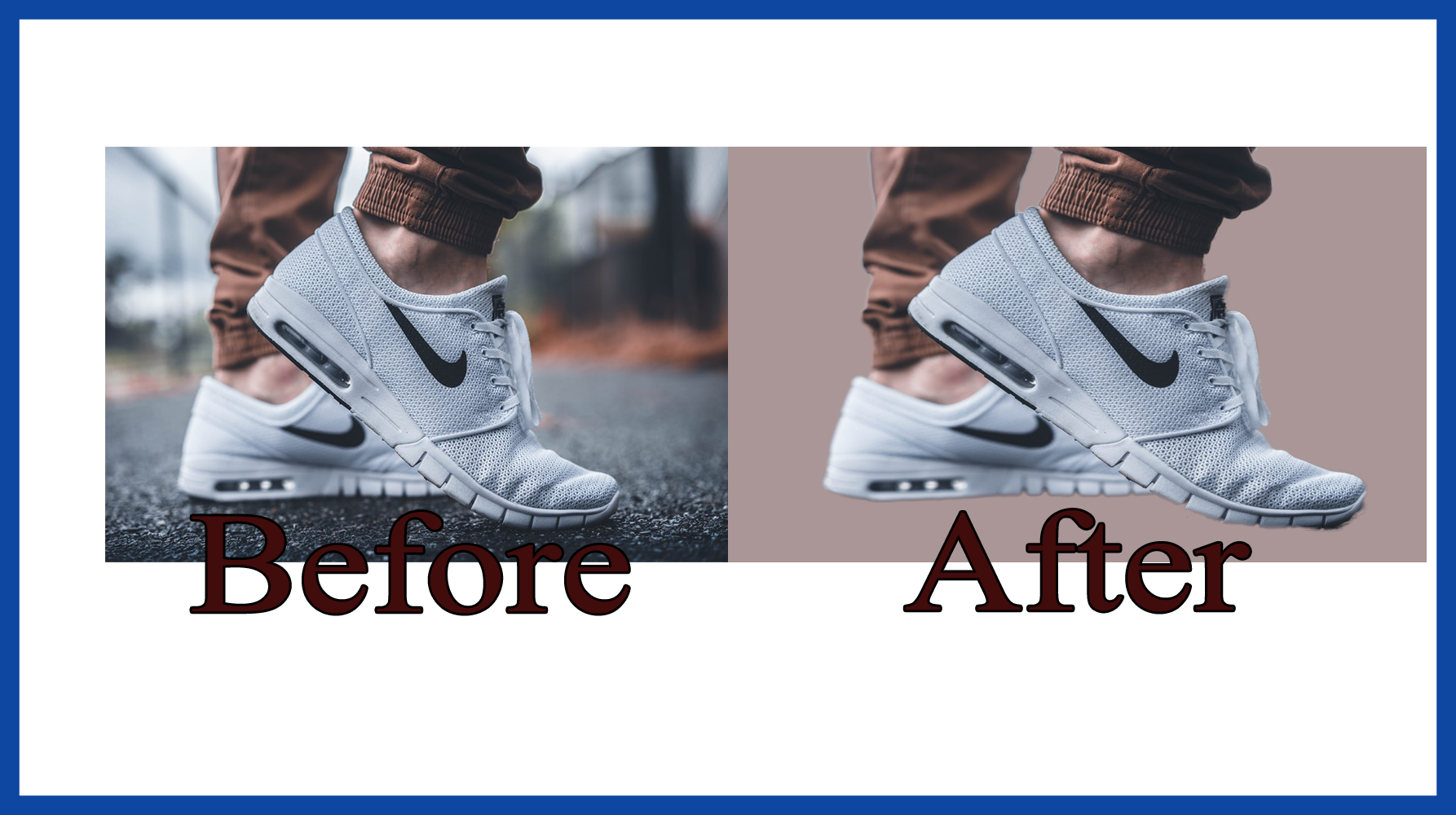 Removing 10 photos background and retouch