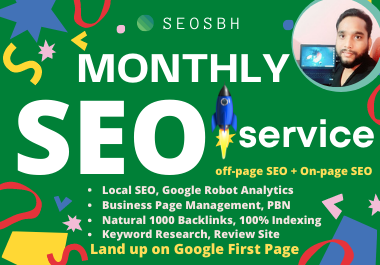 Do Monthly Full SEO Management Service Create 500 Backlinks GMB Verify Map Citation Local Listing