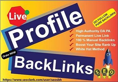 Create 10 Profile BackLinks High Authority White Hat Do Follow Unique High DA PA Link Building