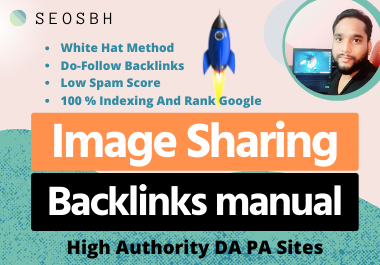 80 Info-graphic or Image Sharing Manual Backlinks High Authority Manual Do Follow white hat method