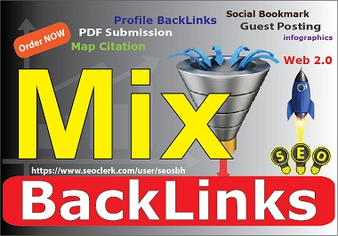 100 Mixed BackLinks + 200 Google Map Citation Pointing with High Authority White Hat DoFollow BOOST