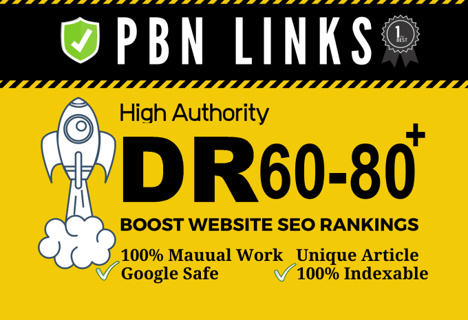 I will provide100 seo dofollow DR 60 to 80 high quality backlinks