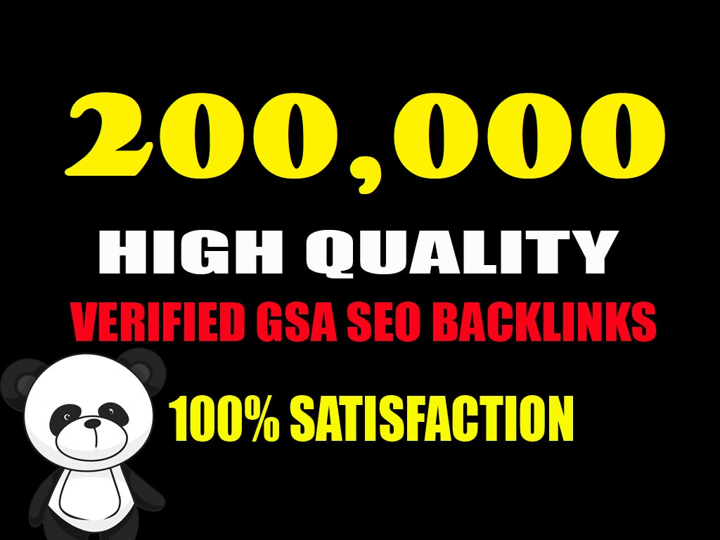 Create 200K GSA Ser BackLinks for your any link promotion