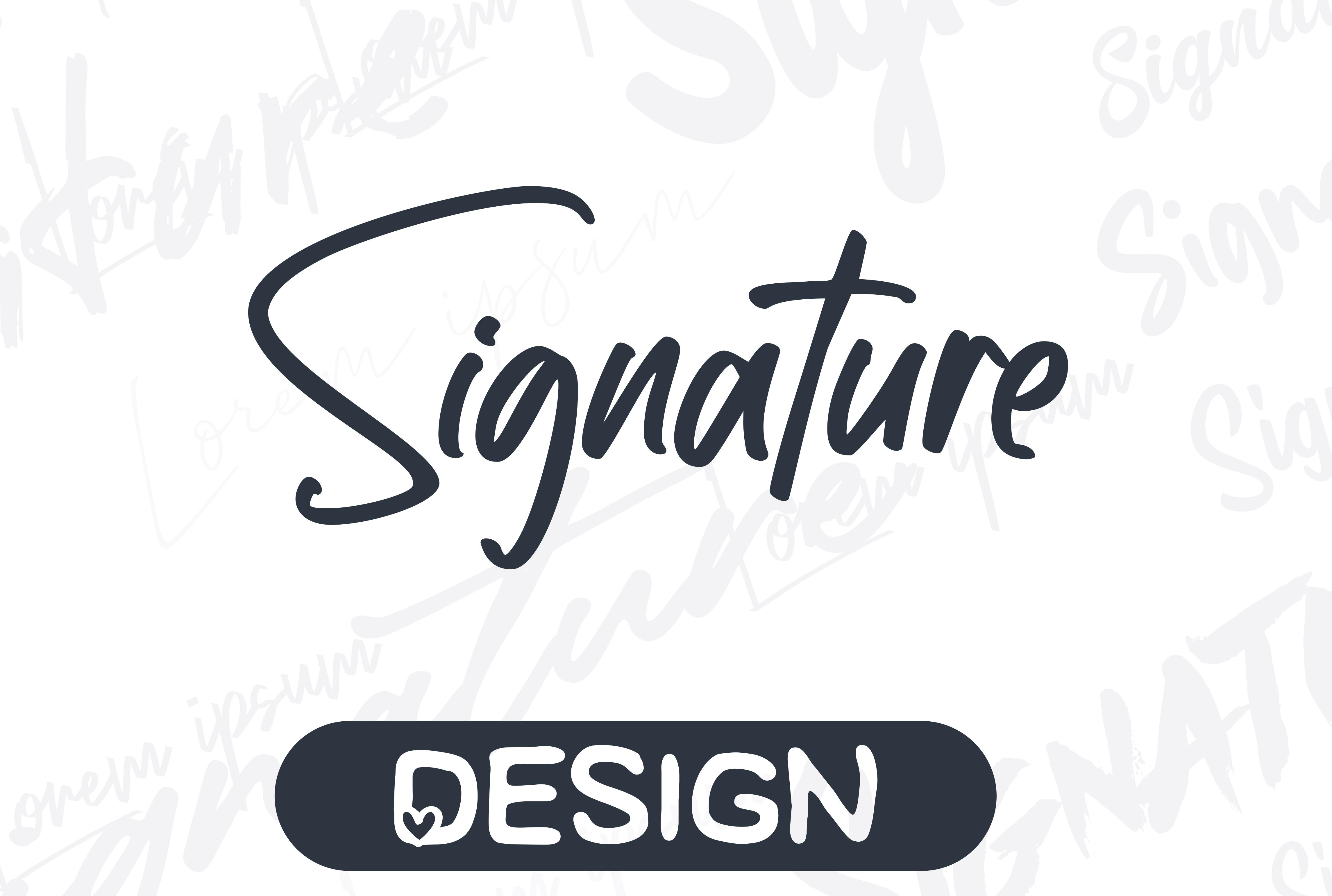 I will create a custom scripted handwritten signature logo design