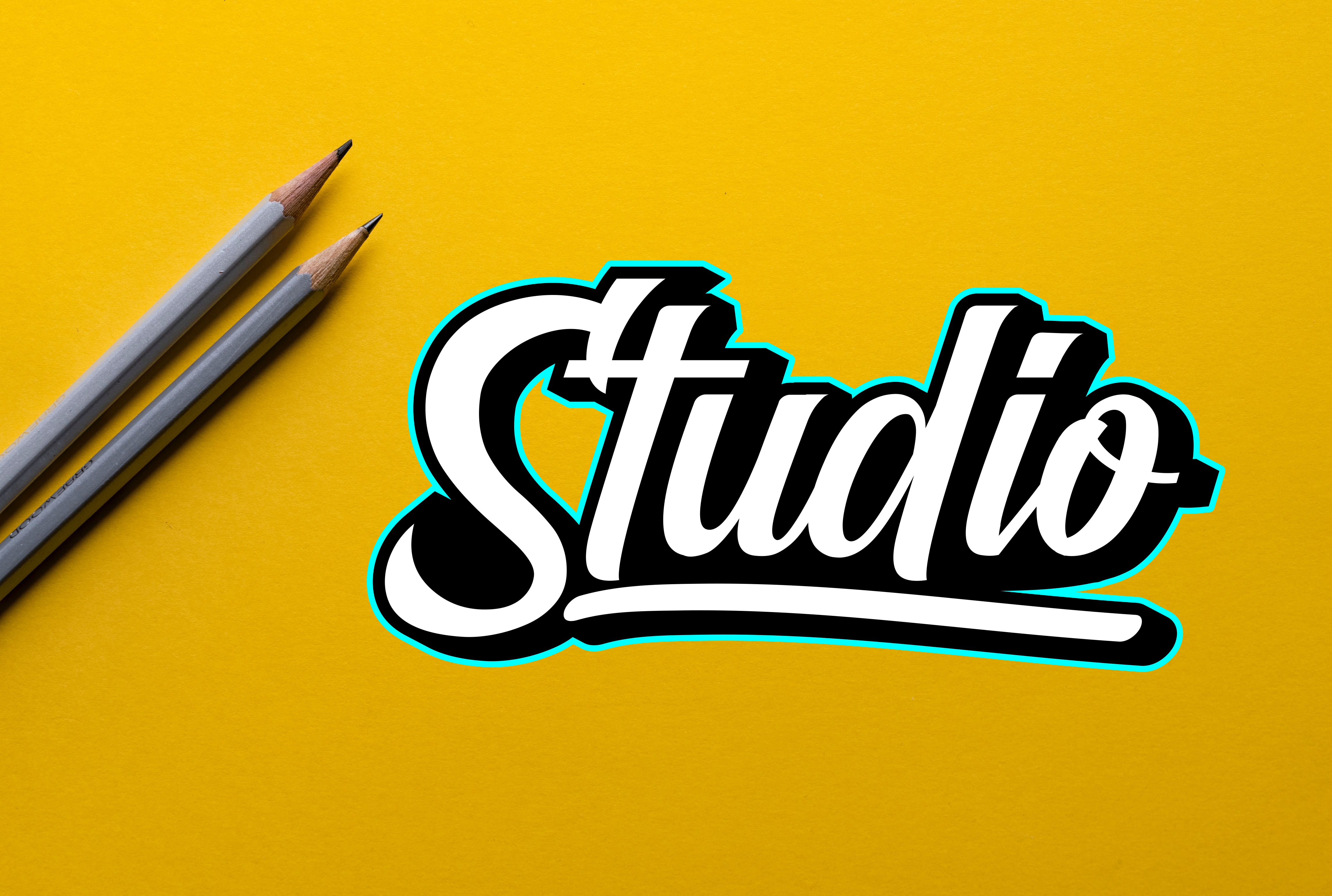 I will design handwritten hand lettering and hand drawn typography logo