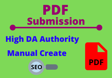 25 PDF Submission High authority low spam score permanent dofollow backlinks