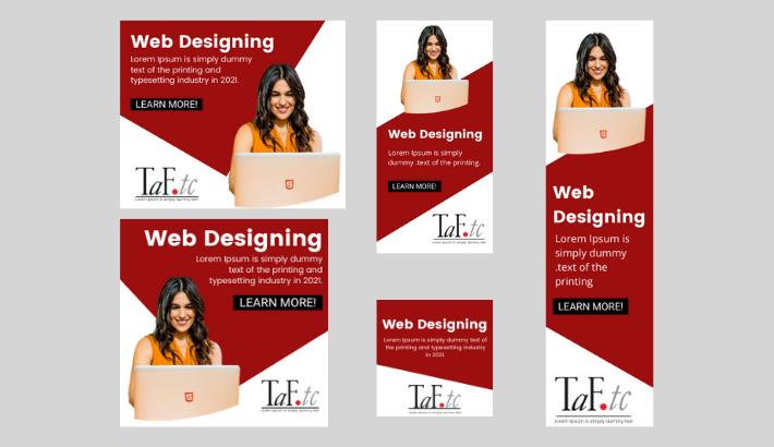 Design Web Banner Ads For Google and Facebook Ads