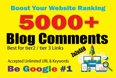 5,000 Blog Comments SEO Backlinks For Youtube,  Website,  Blog,  Social Profile etc.