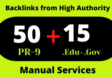 50 Pr9 & 15. Edu/. Gov High Authority Profile Backlinks for website ranking