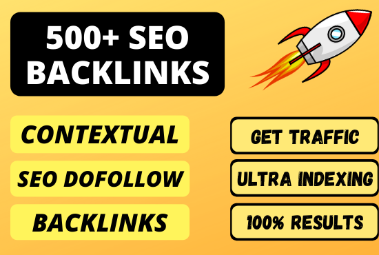 I will build 500+ SEO dofollow contextual backlinks FAST RANKINGS