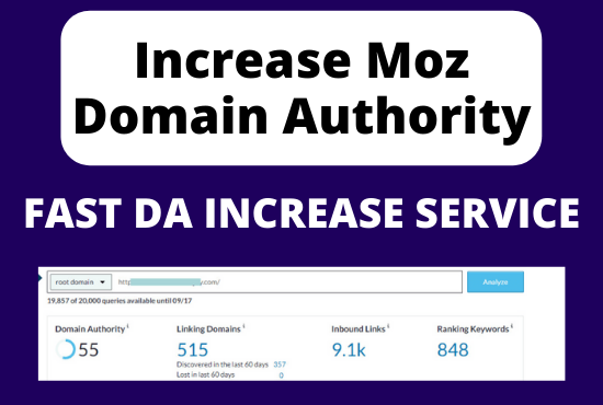 Increase Moz DA Domain Authority 50+ VERY FAST AND QUALITY WORK