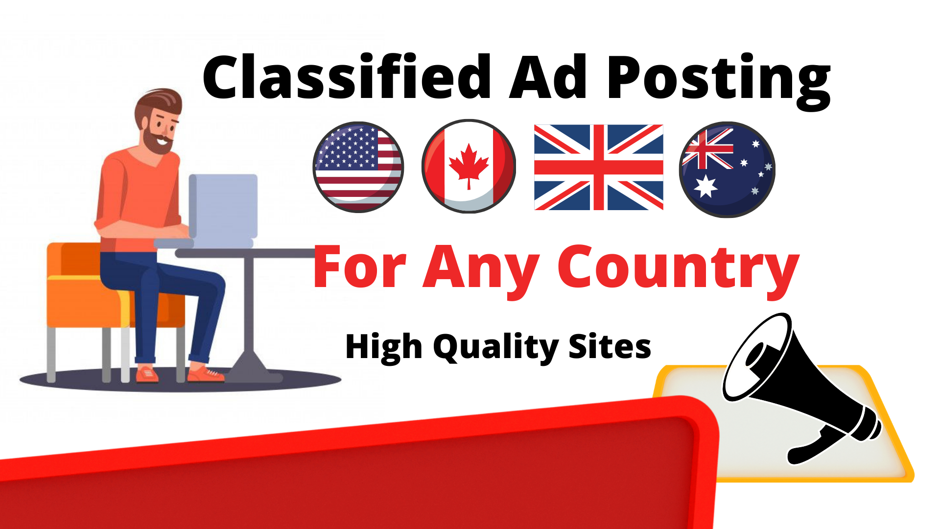 I wil Do Create Post Your Ads 30 Top High Authority Classified Ads Posting Sites