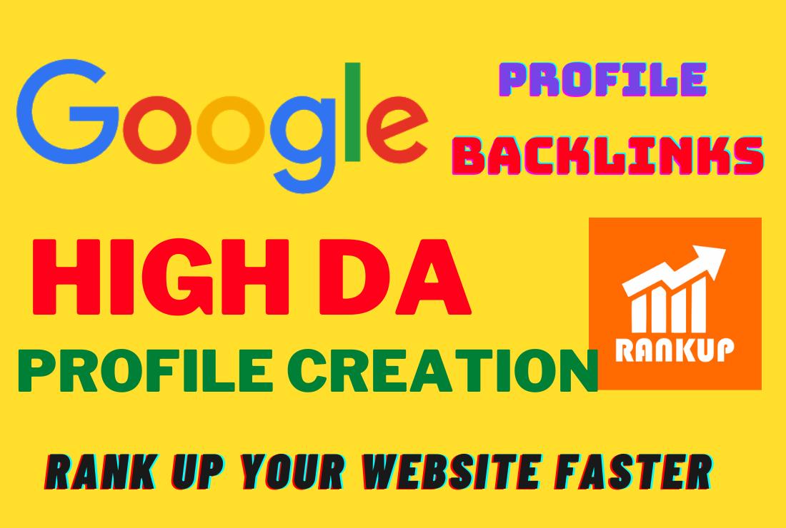 I will do high quality profile backlinks for web SEO