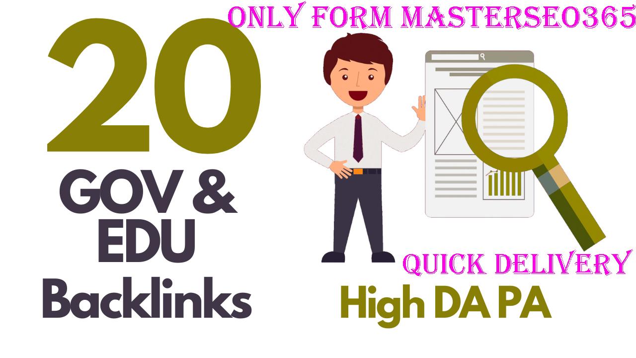 I Will Do Build 20 Premium Edu, Gov SEO Friendly Backlink