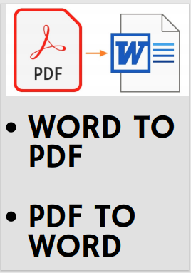 Quality Conversions of Word to PDF / PDF to word