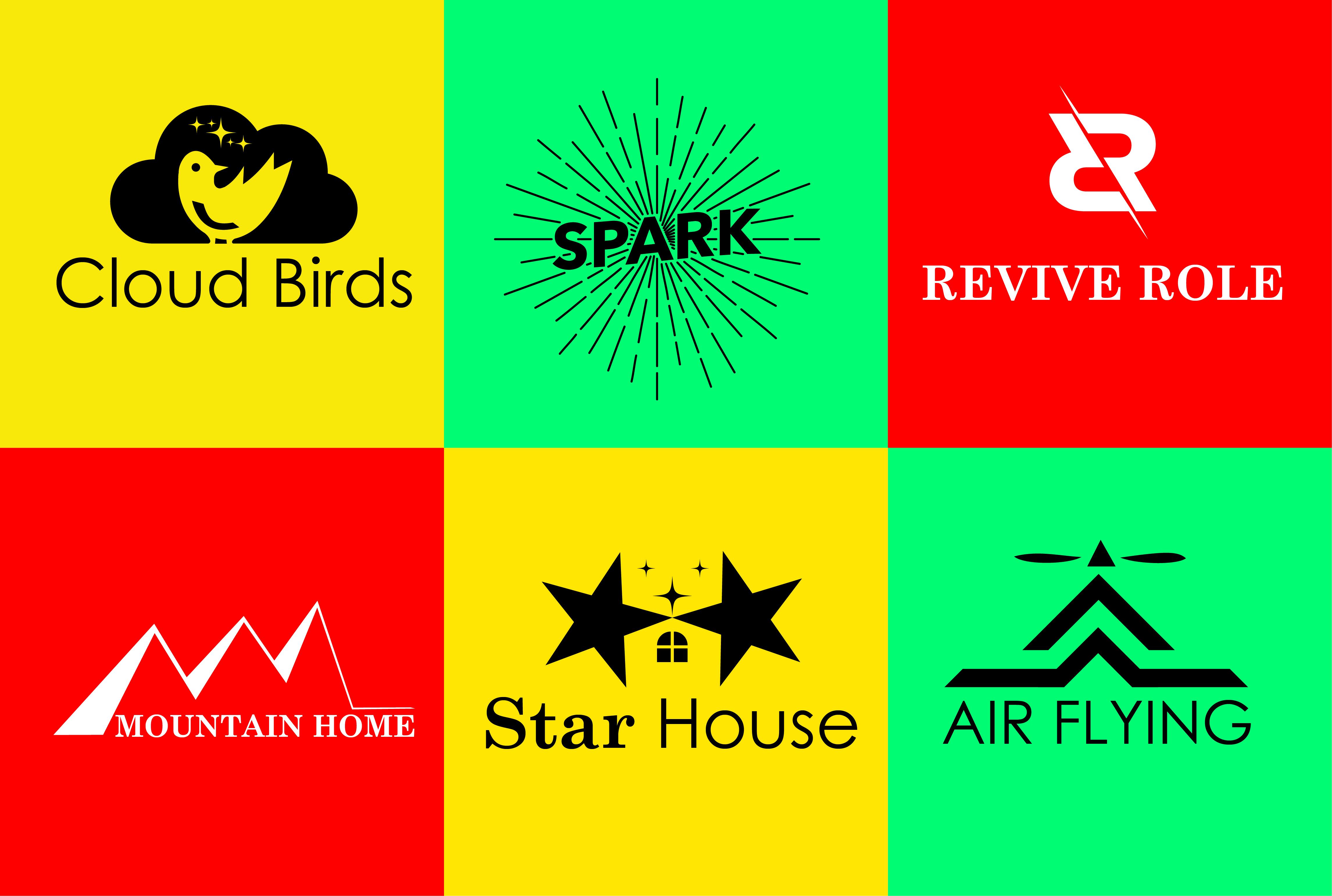 I will do minimalist creative typography logo design