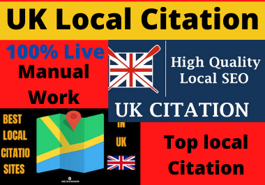 Live 20 UK local citations and directory submission or business listing for local SEO