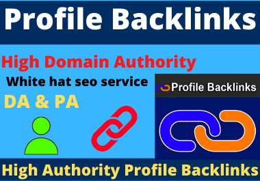 25 Profile Backlinks High Authority permanent Link Building dofollow