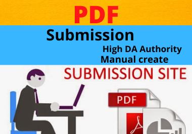 20 PDF Submission High Authority Low spam score unique permanent backlinks