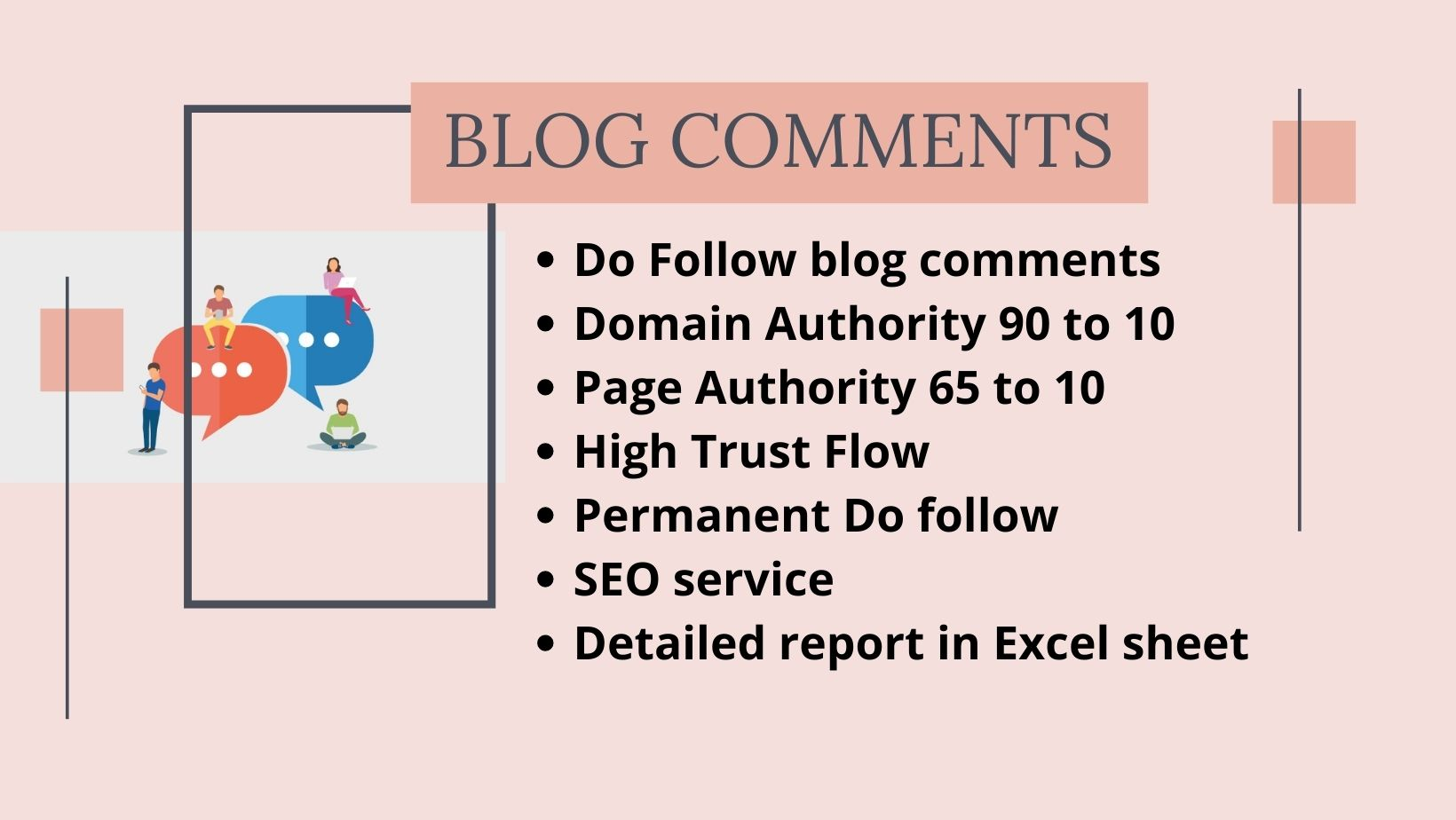 I Will Create High Quality Dofollow 100 Blog Comments backlinks