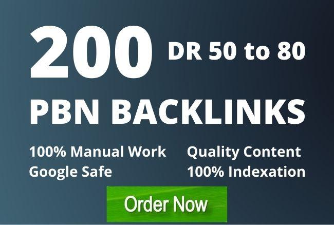 I will manually create 200 high quality PBN SEO backlinks