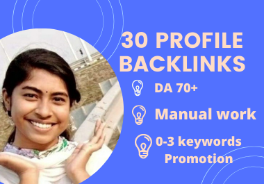 30 High Authority Profile backlinks