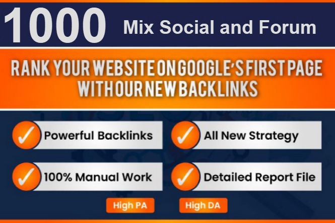 I will create 1000 Social Network Profile Backlink with mix profile and forum links
