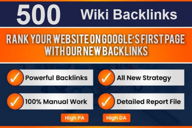 I will provide 1000 Wiki Do-follow comment Backlinks Mix Profile and Article