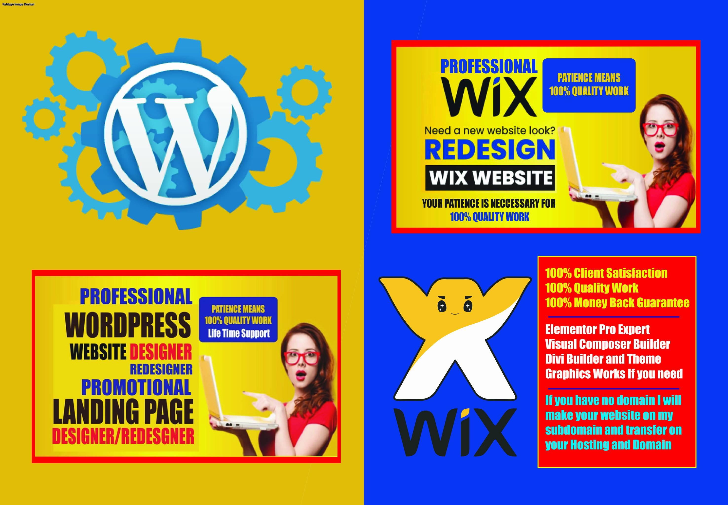 I will design your Custom WordPress website using Elementor Pro